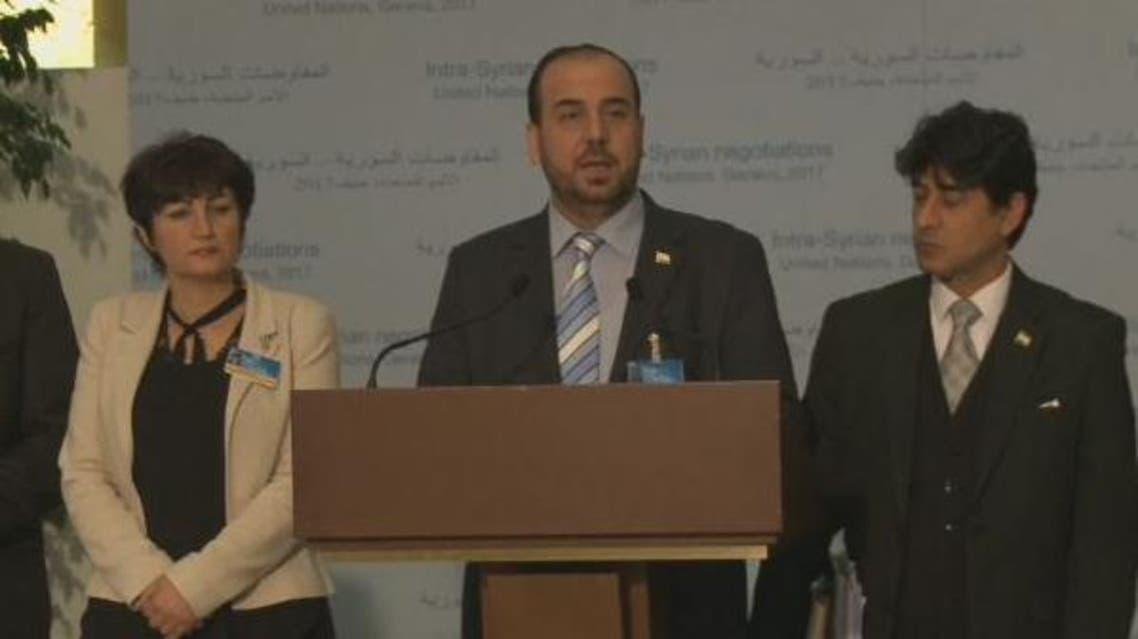 مؤتمر صحفي لنصر الحريري في جنيف