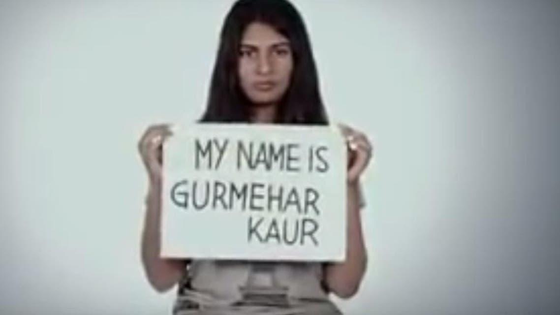 """Pakistan did not kill my dad. War killed him"". Gurmehar Kaur posted in a social media message. (Youtube)"