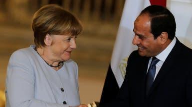 ميركل تؤكد للسيسي دعم حل سياسي بليبيا ورفض أي تدخل أجنبي