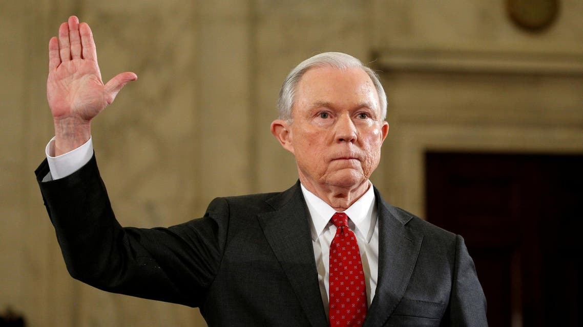 U.S. Sen. Jeff Sessions (R-AL) is sworn in to testify at a Senate Judiciary Committee confirmation hearing to become U.S. attorney general on Capitol Hill in Washington, U.S. January 10, 2017