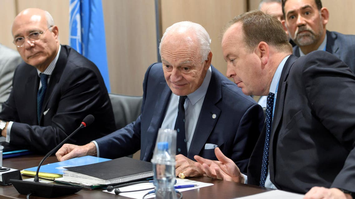 UN Special Envoy of the Secretary-General for Syria Staffan de Mistura, attends a meeting of Intra Syria peace talks with Syrian government delegation at the European headquarters of the United Nations in Geneva, Switzerland, March 1, 2017. reuters
