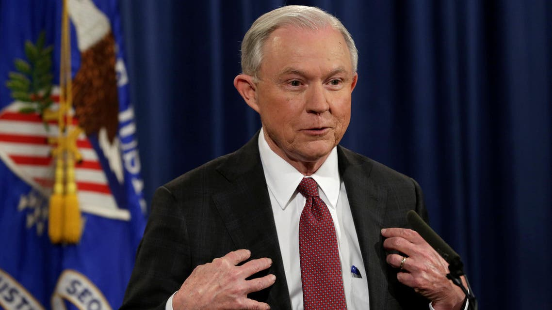 .S. Attorney General Jeff Sessions speaks at a news conference at the Justice Department in Washington, U.S., March 2, 2017