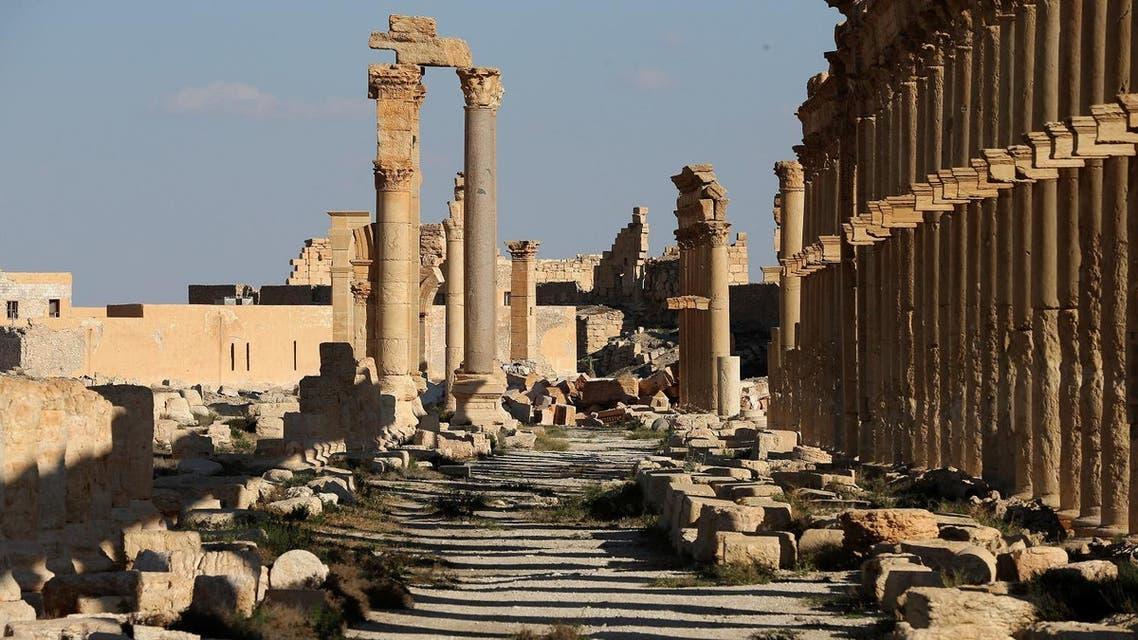 Damaged arc in Palmyra. (AFP)