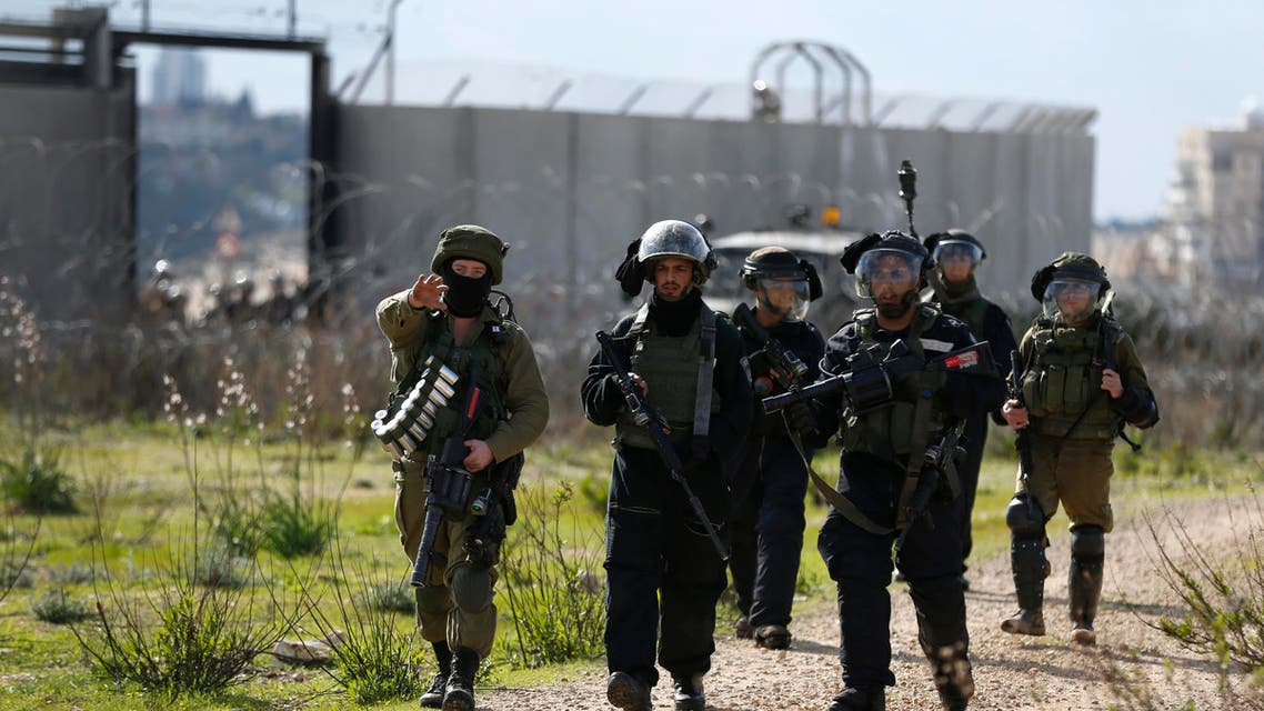 الجيش الإسرائيلي يصل لموقع تظاهرة قرب بلعين في رام الله