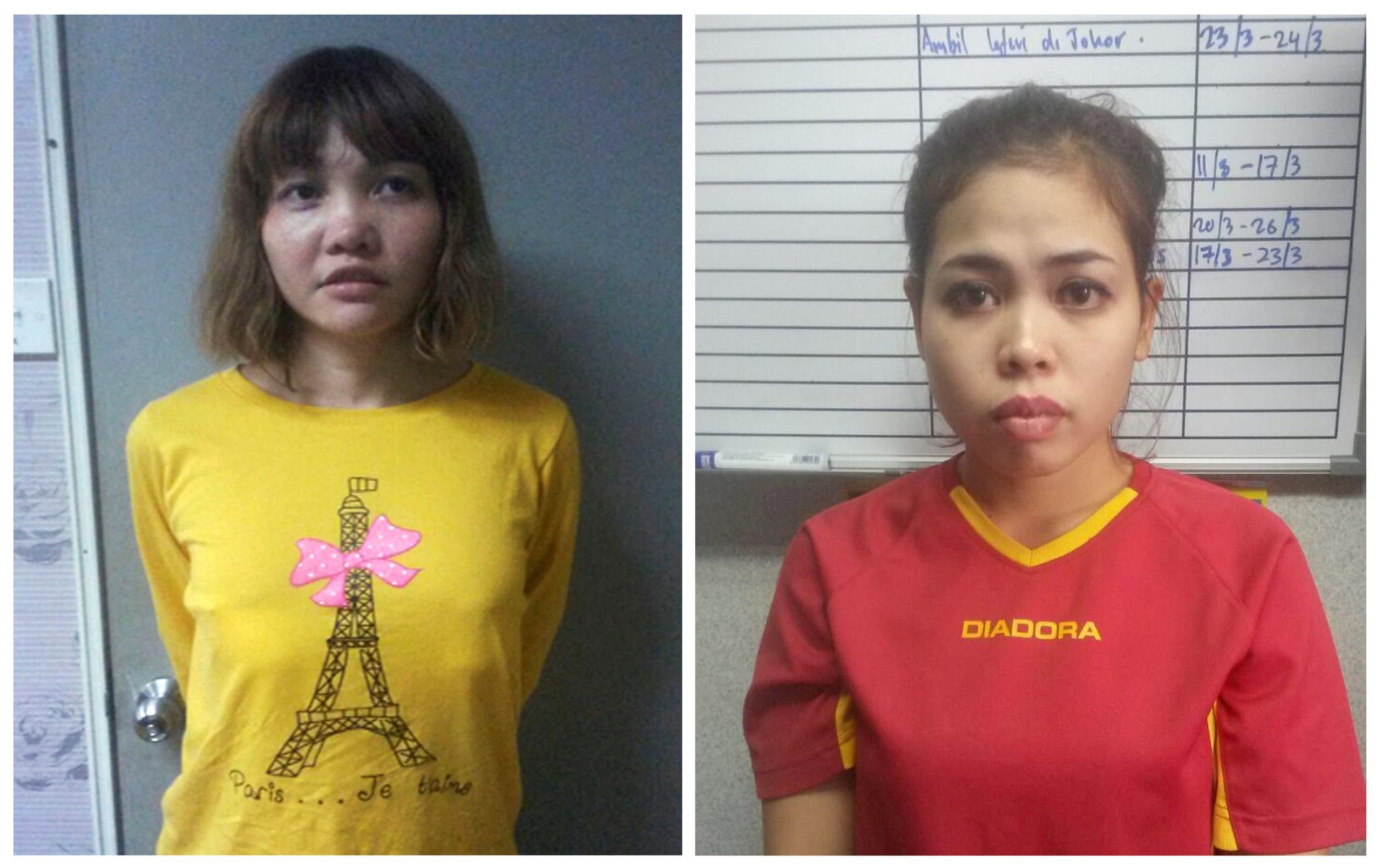 المتهمتان الفيتنامية دوان تي هووانغ والإندونيسية سيتي عايشة