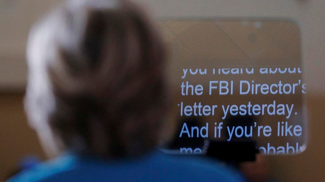 U.S. Democratic presidential nominee Hillary Clinton speaks about the FBI inquiry into her emails during a campaign rally in Daytona Beach, Florida, U.S. October 29, 2016. REUTERS/Brian Snyder/File Photo