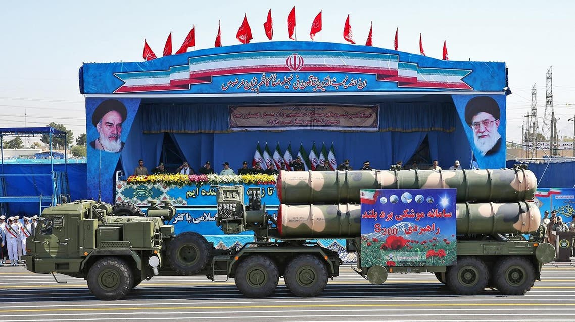 A long-range S-300 missile system is displayed by Iran's army during a military parade marking the 36th anniversary of Iraq's 1980 invasion of Iran. (File photo: AP)