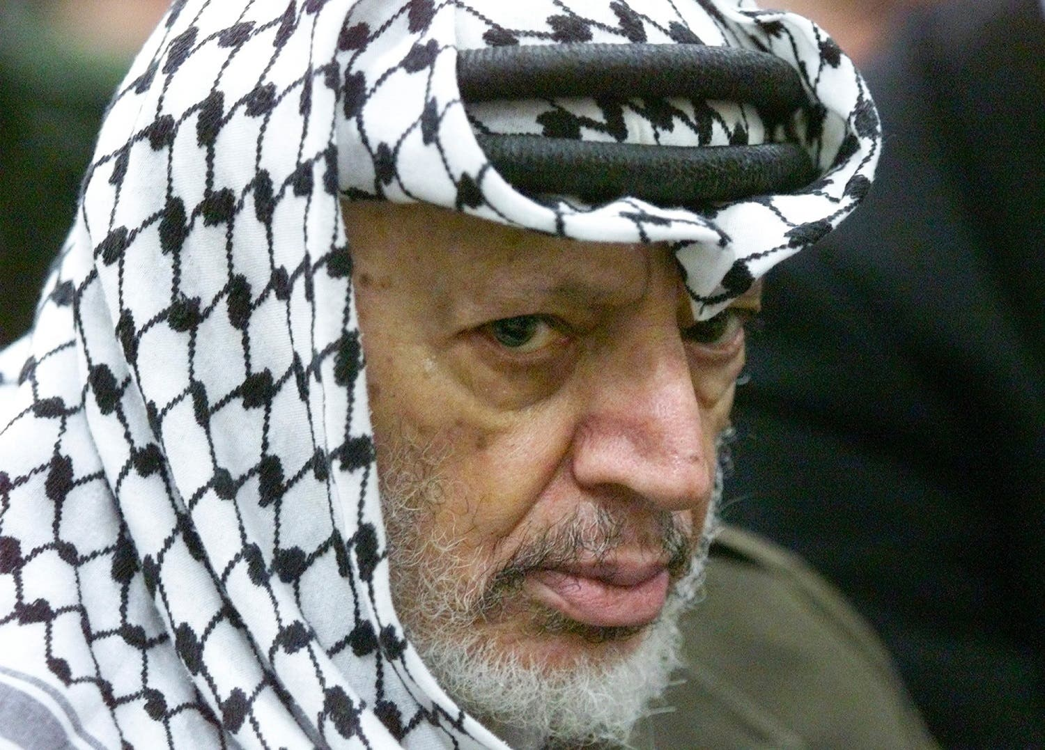 In this May 31, 2002 file photo photo Palestinian leader Yasser Arafat pauses during the weekly Muslim Friday prayers (File Photo: AP /Lefteris Pitarakis)