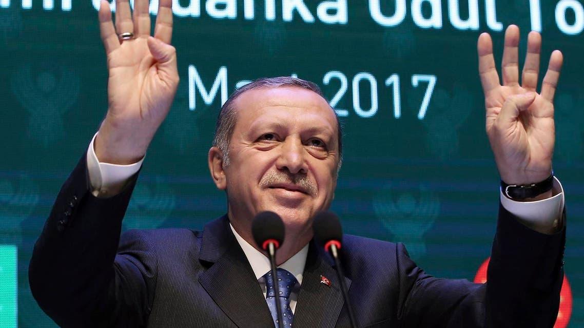 Turkey's President Recep Tayyip Erdogan addresses a recent meeting in Istanbul (File Photo: Yasin Bulbul/Presidential Press Service)