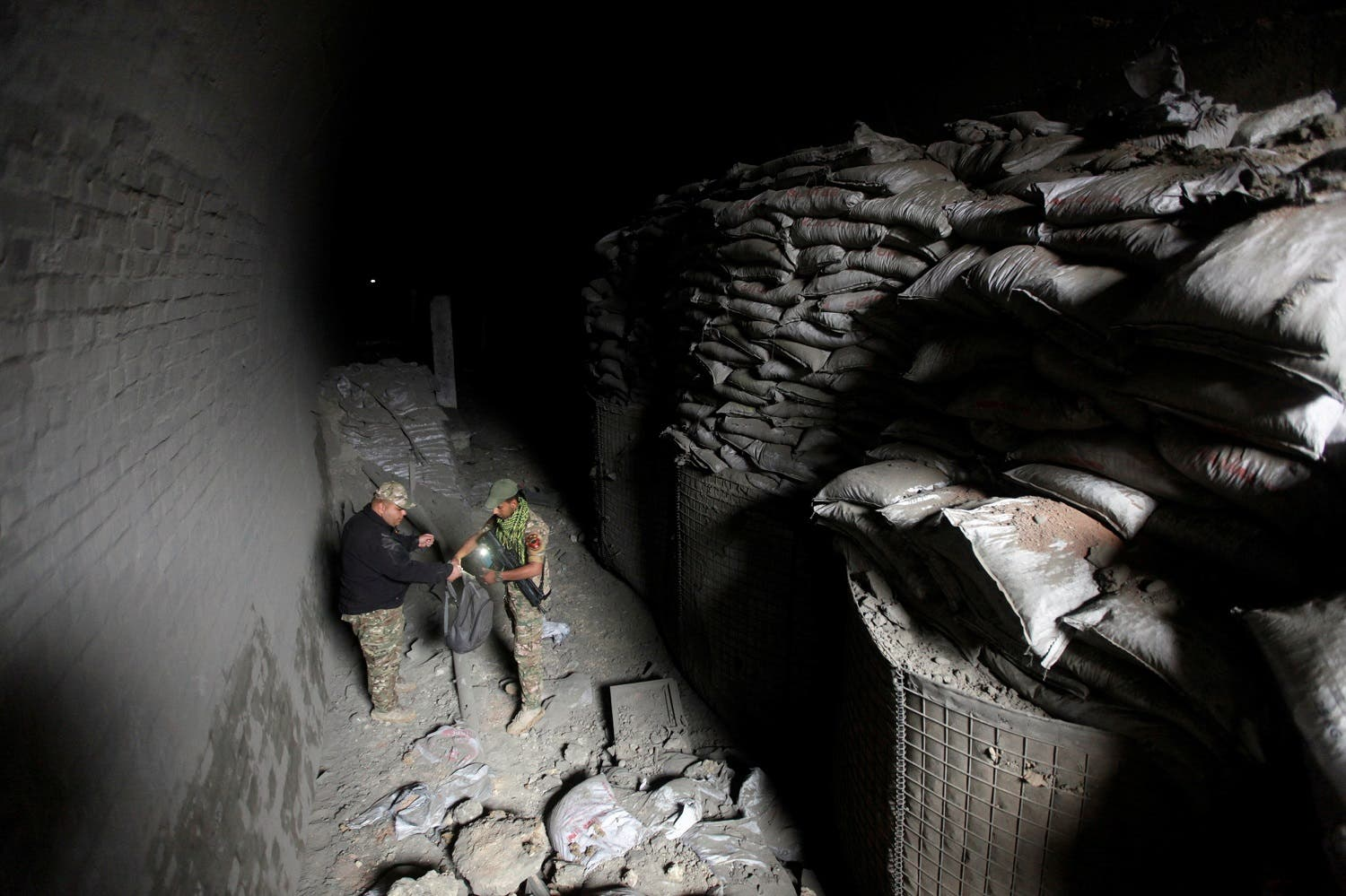 Mosul ISIS tunnels. (Reuters)