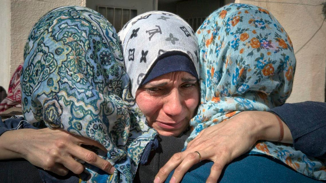 Women mourn at the family house of Hussein Salem Abu Ghosh, 19, during his funeral, in the West Bank refugee camp of Qalandia, on the outskirts of Ramallah, Sunday, Feb. 5, 2017. (File Photo: AP)