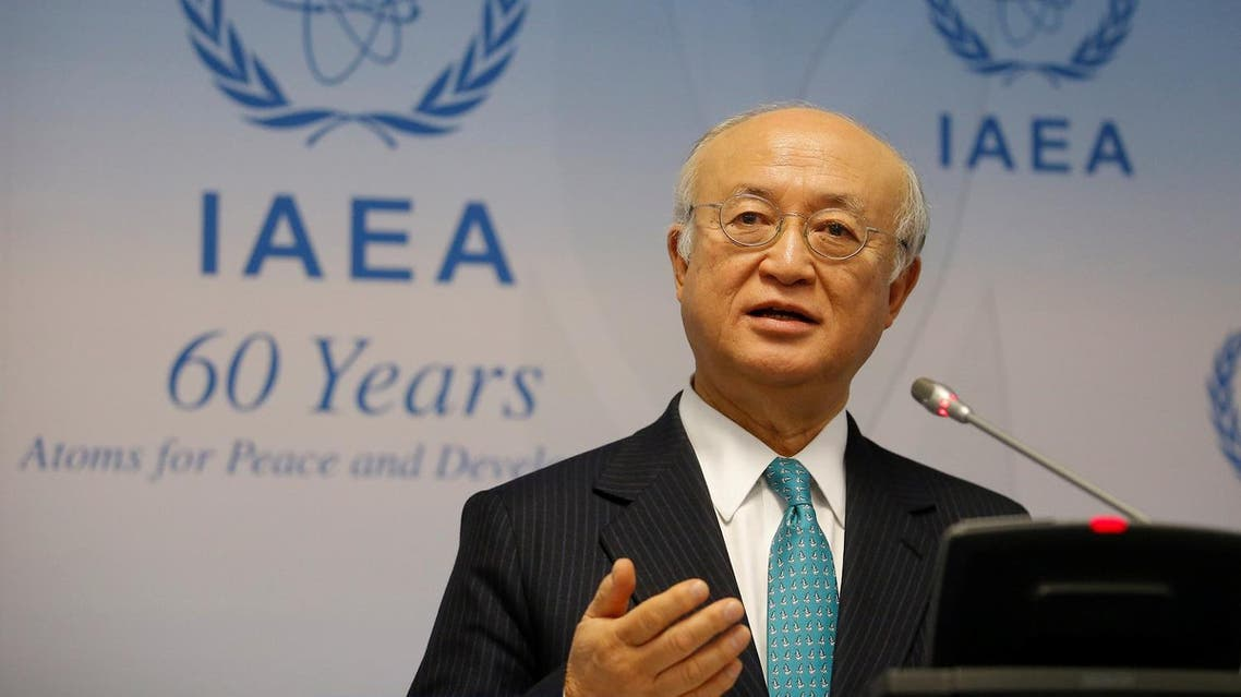 IAEA Director General Yukiya Amano addresses a news conference after a board of governors meeting at the IAEA headquarters in Vienna, Austria March 6, 2017. (Reuters)