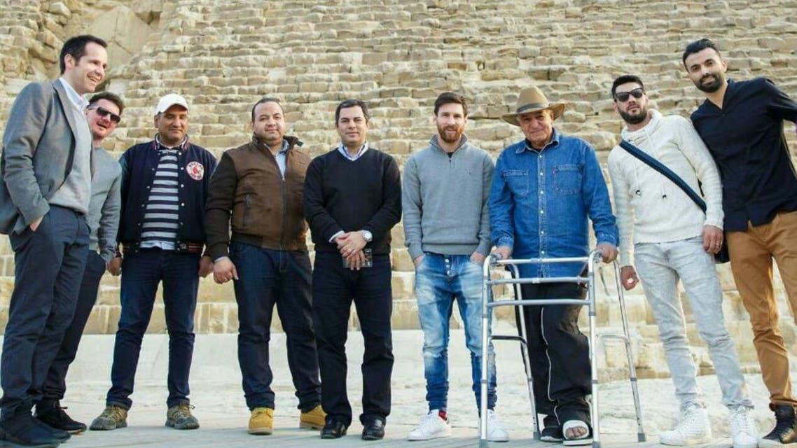 Messi alongside Zahi Hawass. (courtesy of Zahi Hawass)