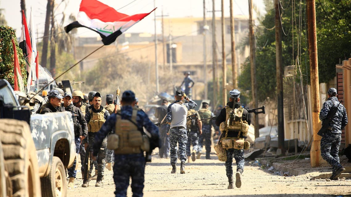 Federal police members are seen during a battle with Islamic State militants in Mosul, Iraq, March 6, 2017