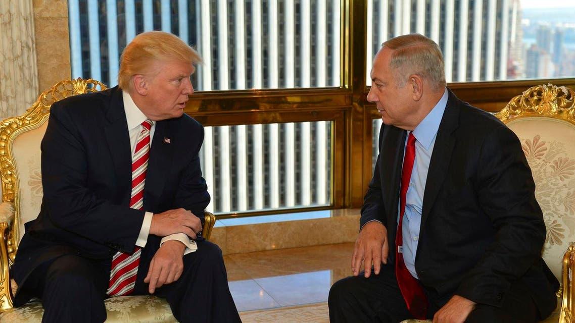 Republican Presidential candidate Donald Trump meets Israeli Prime Minister Benjamin Netanyahu in New York, Sept. 25, 2016. (File photo: AP)