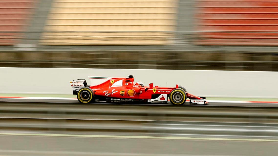 Ferrari driver Kimi Raikkonen of Finland steers his car during a Formula One pre-season testing session at the Catalunya racetrack in Montmelo, outside Barcelona, Spain, Wednesday, March 8, 2017. (AP)