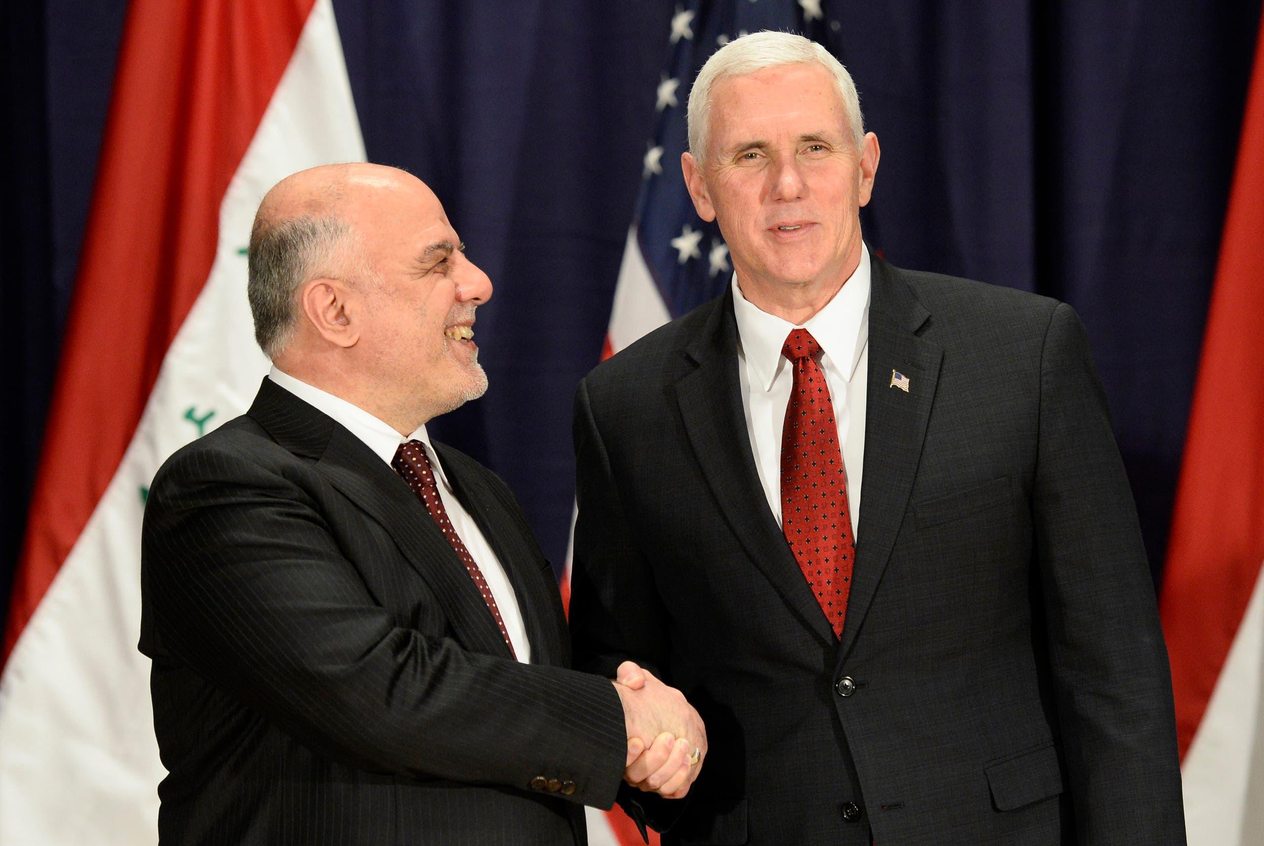 نائب الرئيس الأميركي ورئيس الوزراء العراقي في ميونيخ - أرشيفية