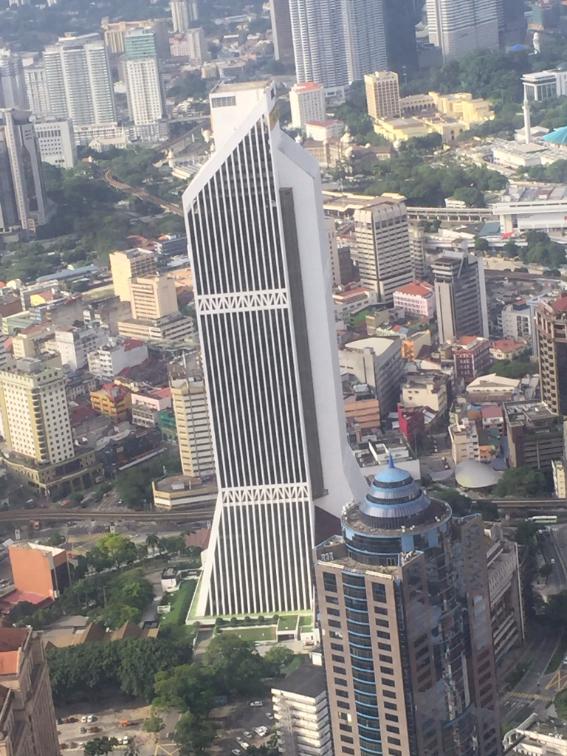 منظر عام لجانب من كوالالمبور من فوق برج الاتصالات