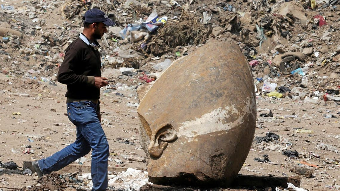 Ramses II finding in Egypt. (Reuters)