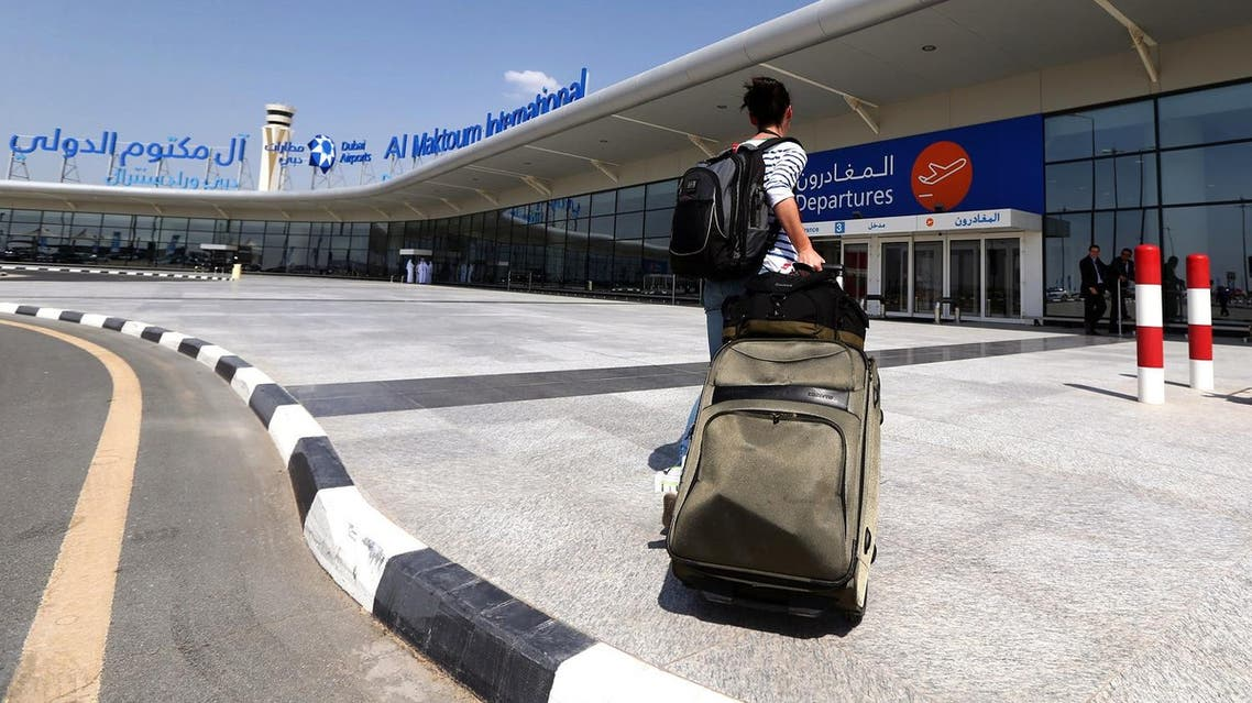 A passanger arrives at the newly opened Al-Maktoum International airport in Dubai, October 27, 2013. (AFP)