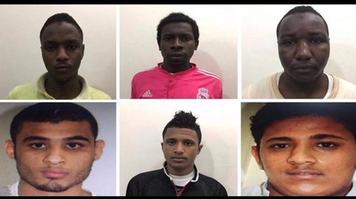 المعتدين على رجل الأمن في جدة
