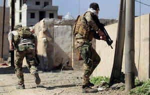 سربازان عراقی در غرب موصل