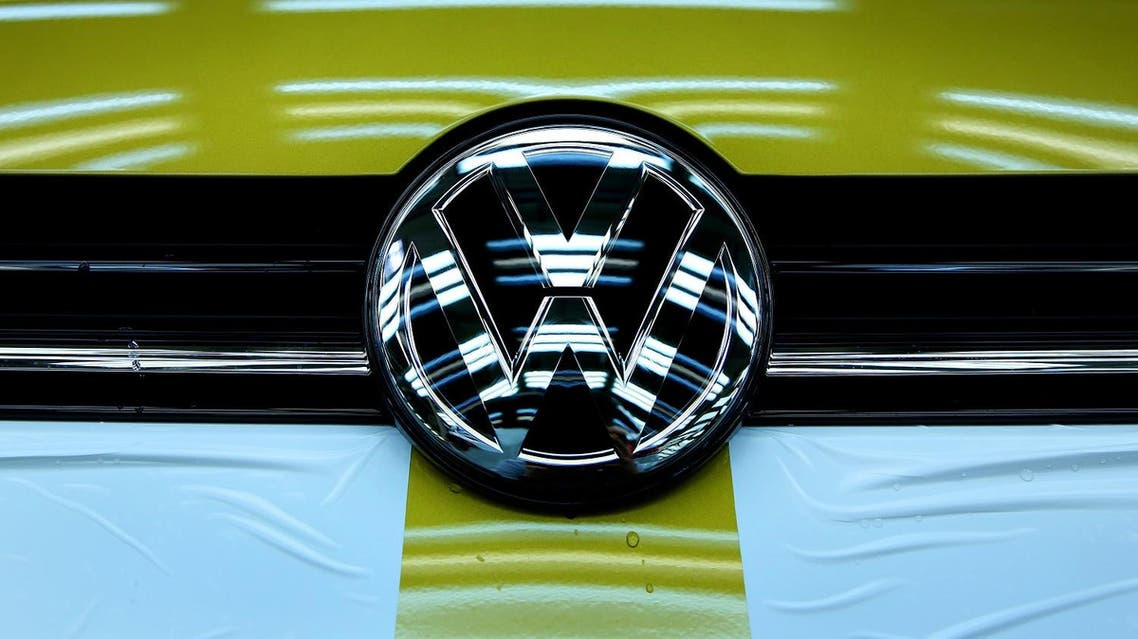 The logo of German car maker Volkswagen (VW) is seen on a Golf VII car at an assembly line at VW plant in Wolfsburg, central Germany, on March 9, 2017. (AFP)