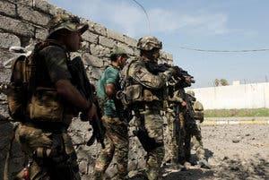 نیروهای عراقی در غرب موصل