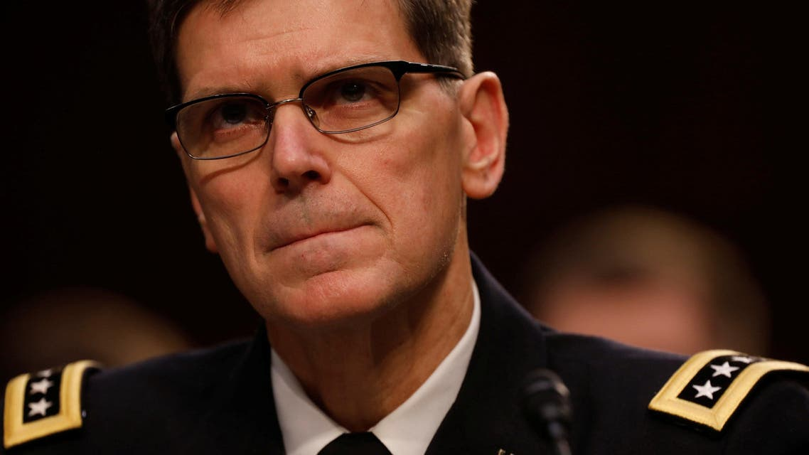 U.S. Army Gen. Joseph Votel, commander of the U.S. Central Command, testifies before the Senate Armed Services Committee on Capitol Hill in Washington March 9, 2017. (reuters)
