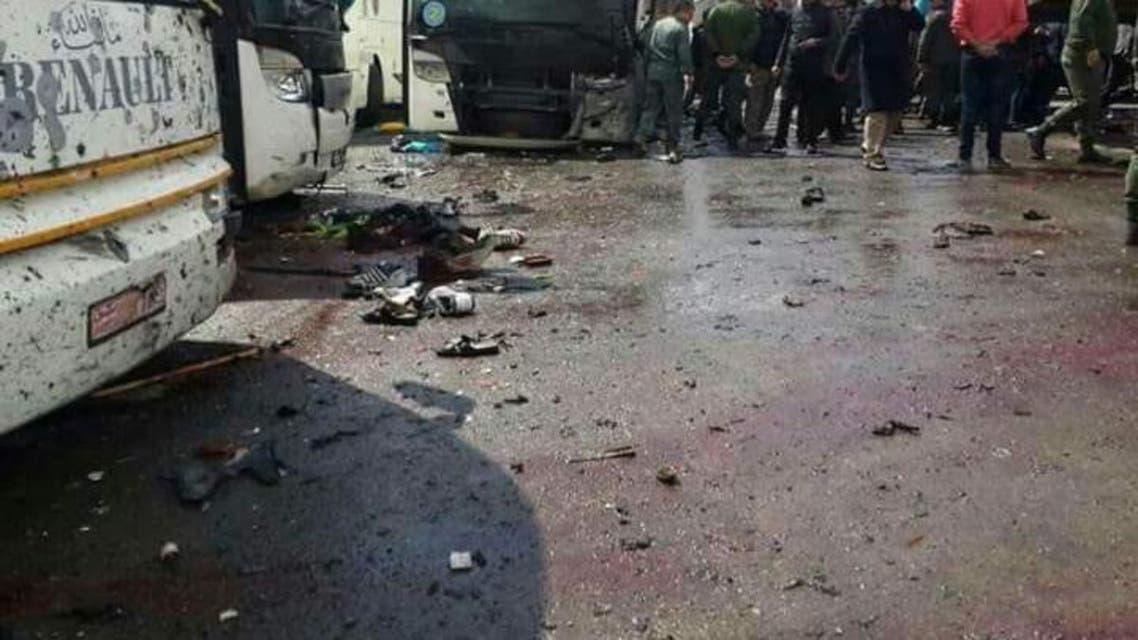 صور من تفجيري دمشق