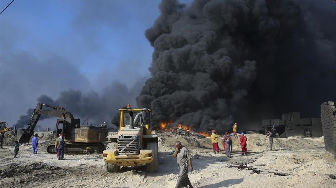 حرائق نفط القيارة جنوب الموصل