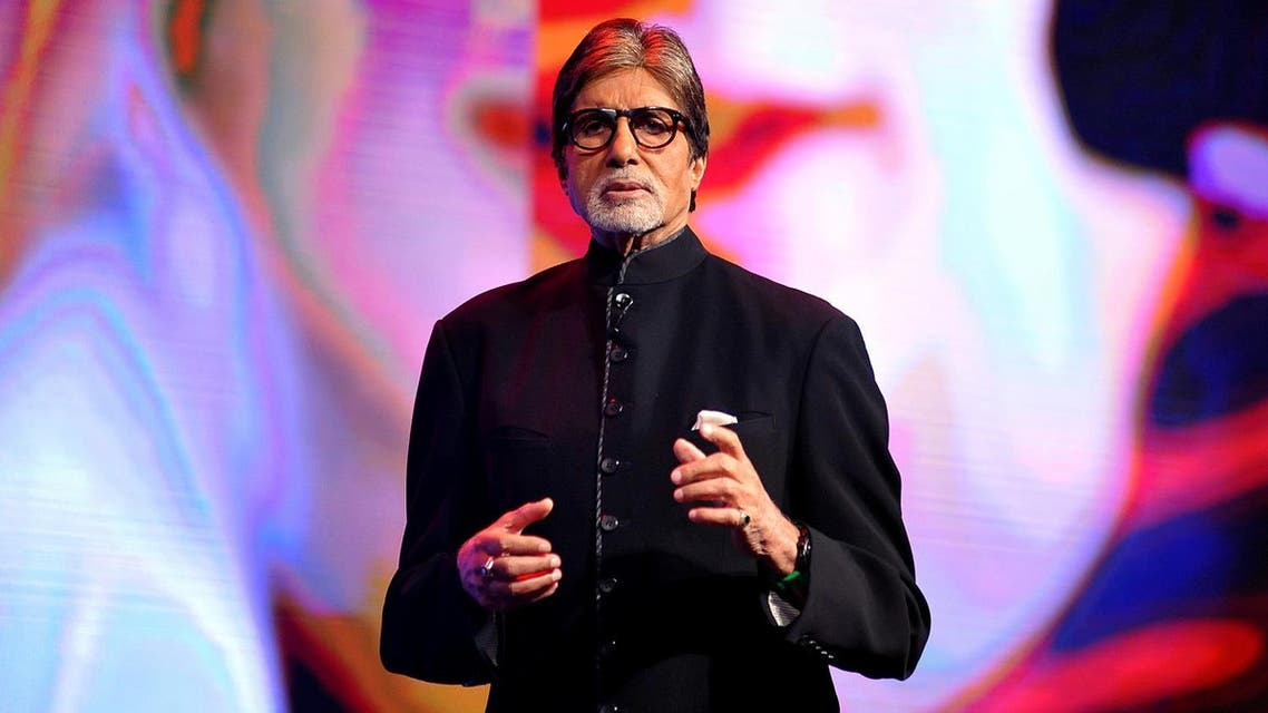 Indian Bollywood actor Amitabh Bachchan speaks during a launch event in Mumbai. (AFP)