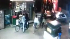 Horrifying video shows moment car runs over group of people in Egypt
