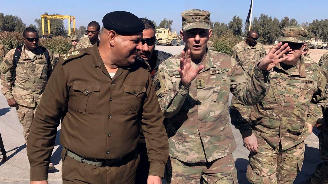 الجنرال ستيفان تاونسند الذي يقود قوات التحالف العسكري الدولي في بغداد