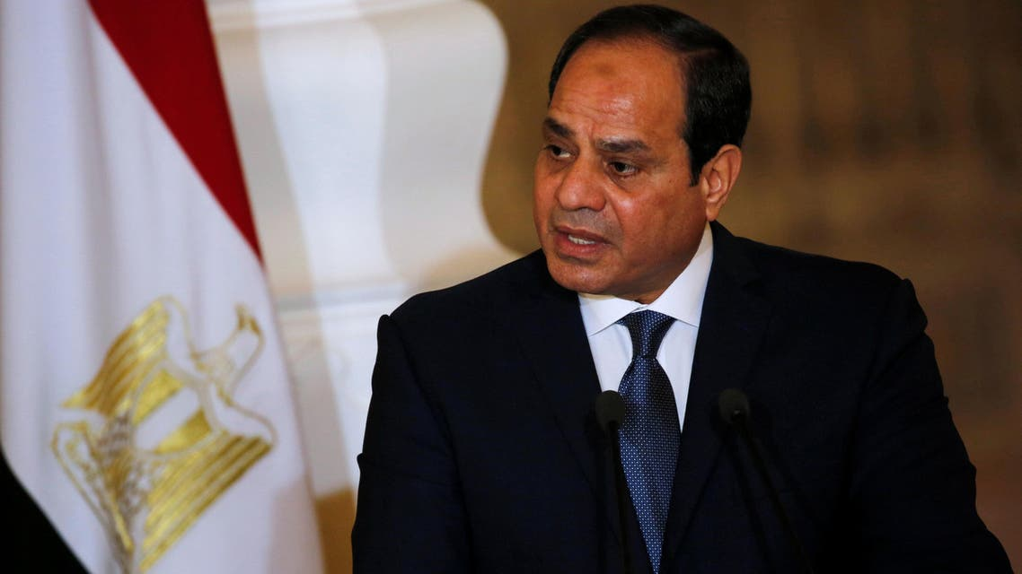 Egypt's President Abdel Fattah al-Sisi speaks during a news conference with German Chancellor Angela Merkel (unseen) at the El-Thadiya presidential palace in Cairo, Egypt, March 2, 2017