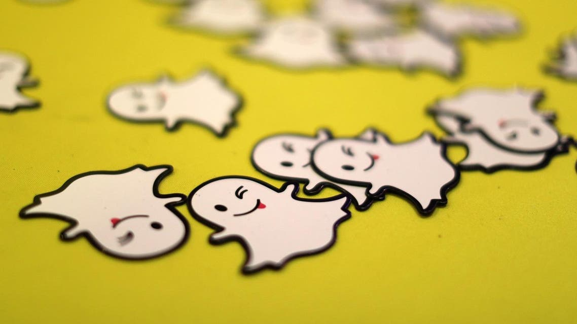 The logo of messaging app Snapchat is seen at a booth at TechFair LA, a technology job fair, in Los Angeles, California, U.S., January 26, 2017. REUTERS
