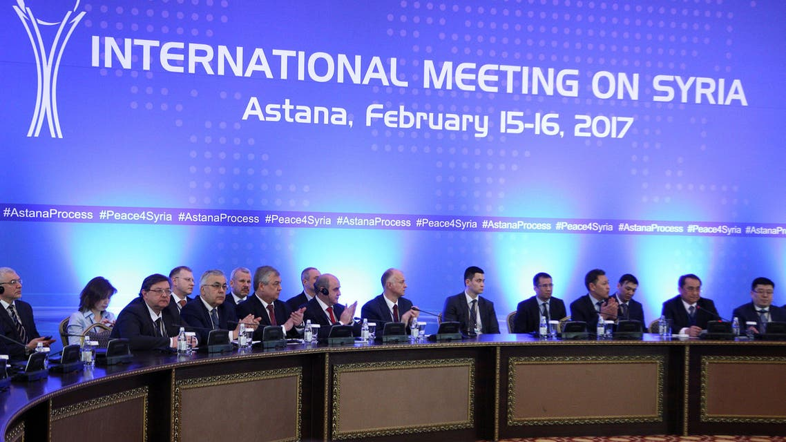 Participants of Syria peace talks attend a meeting in Astana, Kazakhstan February 16, 2017