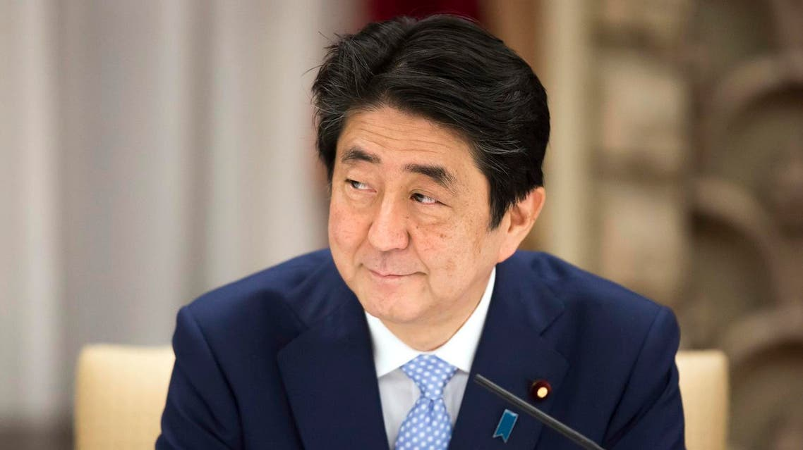 Japan's Prime Minister Shinzo Abe looks on during a banquet. (AFP)
