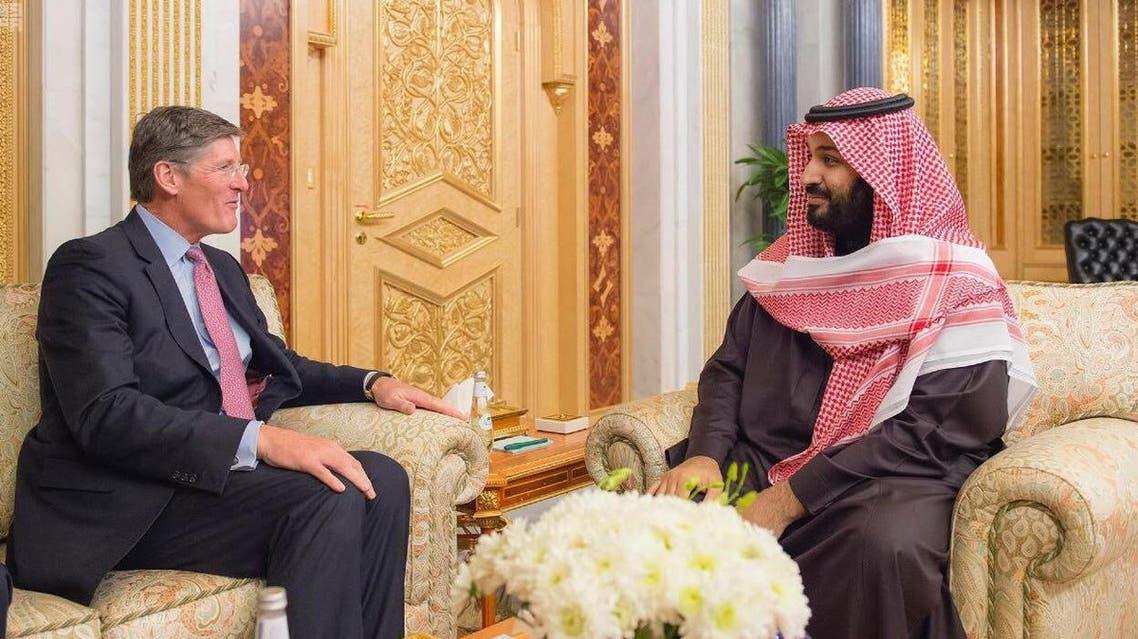 ولي ولي العهد محمد بن سلمان والرئيس التنفيذي لسيتي غروب