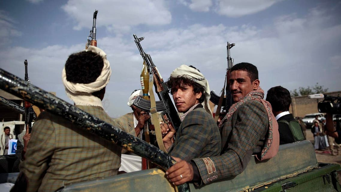 Tribesmen loyal to Houthi rebels ride on a pickup truck during a gathering aimed at mobilizing more fighters into battlefronts in several Yemeni cities, in Yemen. (File Photo: AP)