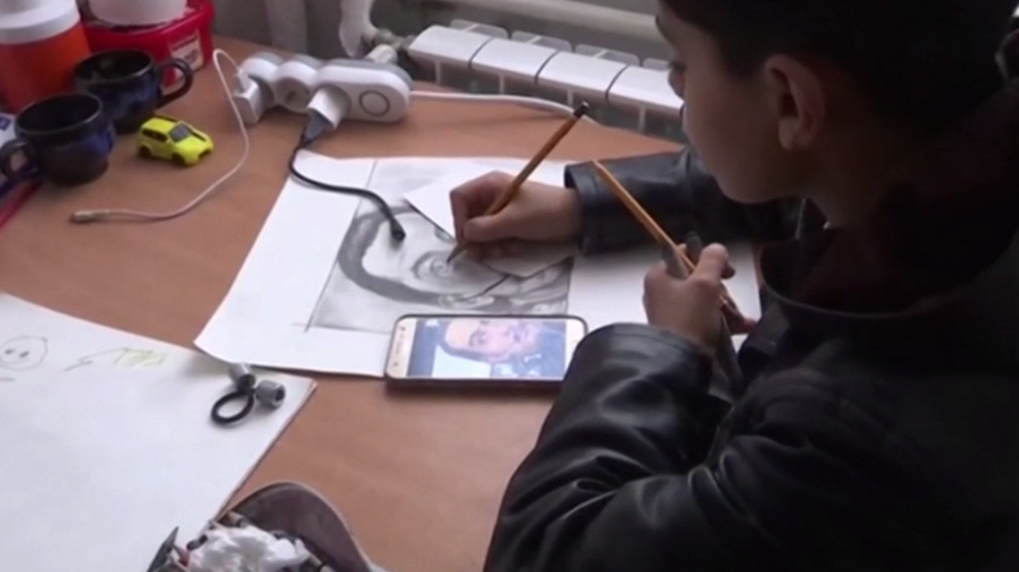 Farhad Nouri,' little Picasso'. (Screengrab)