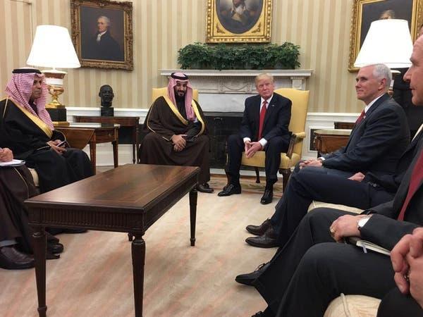 محمد بن سلمان أول مسؤول عربي يلتقي ترمب بالبيت الأبيض