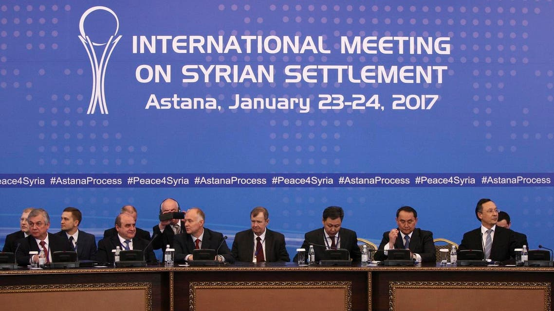 Participants of Syria peace talks attend a meeting in Astana, Kazakhstan. (File Photo: Reuters)