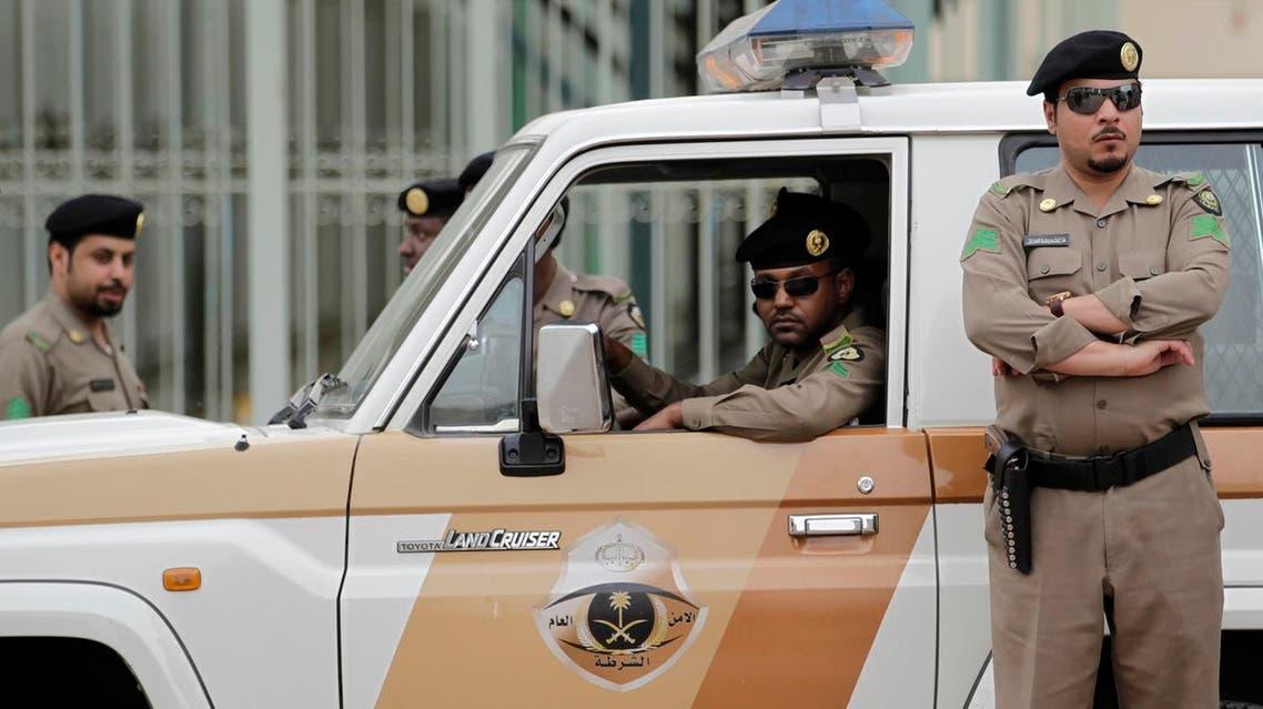 File photo of a Saudi police checkpoint. (AP)