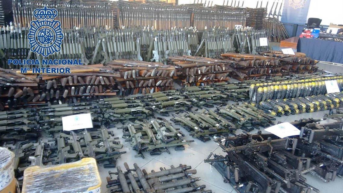 أسلحة مصادرة في اسبانيا