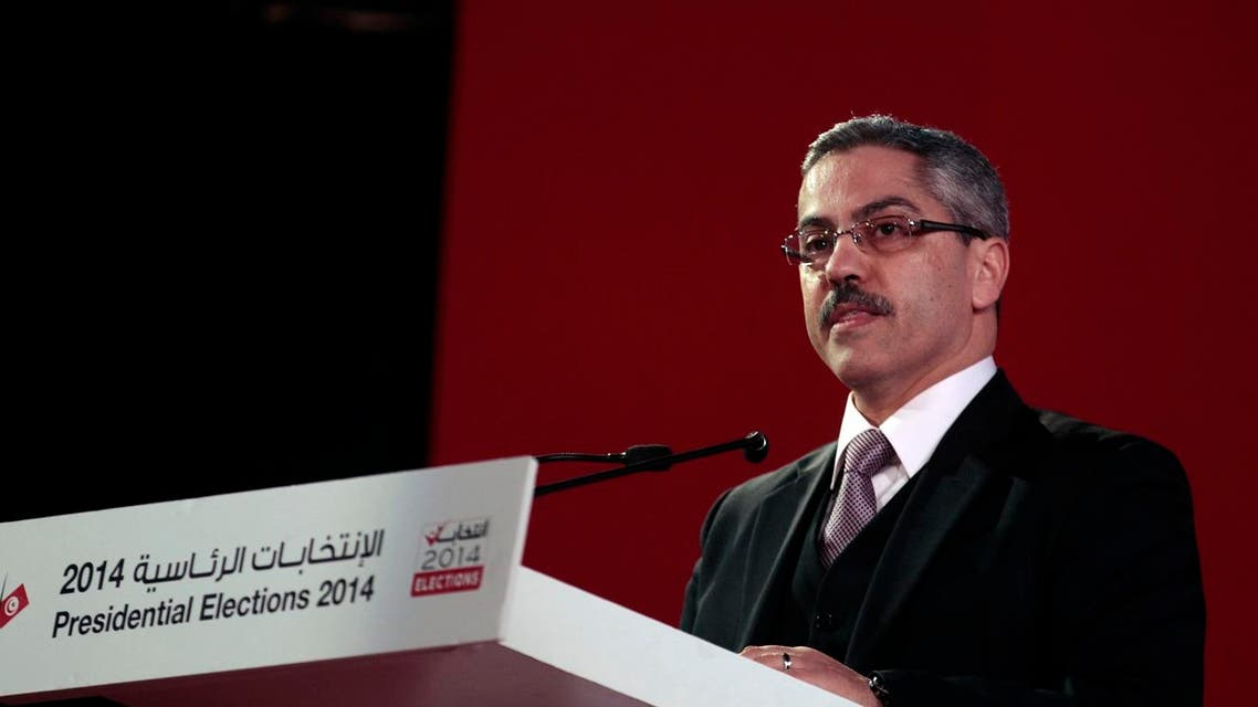 Chafik Sarsar, head of the Independent Election Commission (ISIE), addresses a news conference in Tunis December 22, 2014. (File Photo: Reuters)