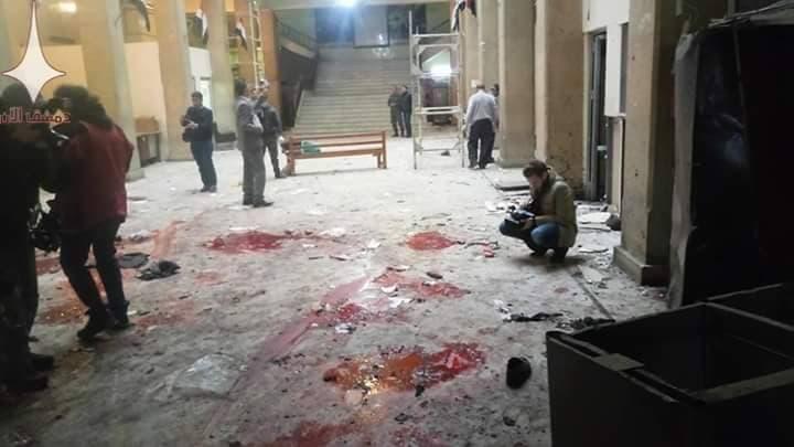 انفجار کاخ دادگستری دمشق