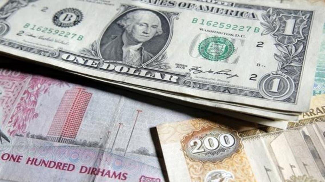 درهم الإمارات و الدولار الأمريكي