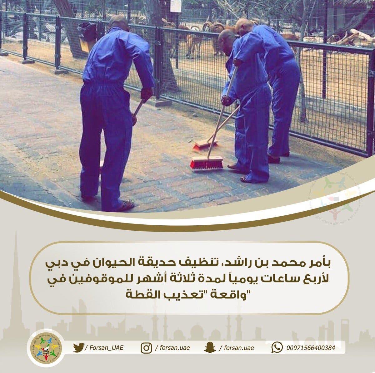 المتورطون في فيديو تعذيب القطة في دبي