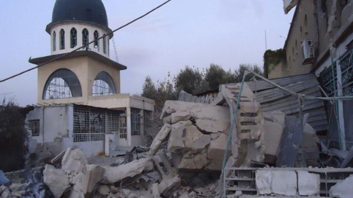قصف على مسجد في سوريا